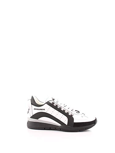 DSQUARED2 Luxury Fashion Herren SNM0505065B0001M072 Weiss Leder Sneakers | Herbst Winter 20