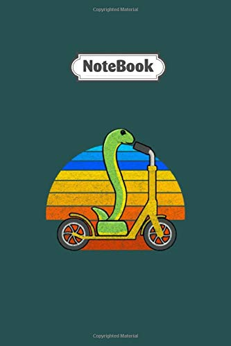 Notebook: snake rolls scooter - 6 x 9 inche