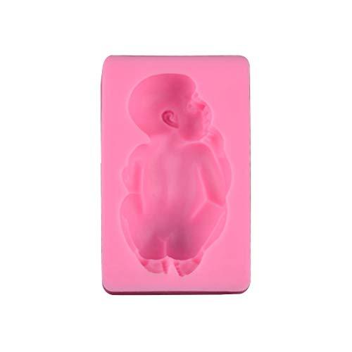 BESTonZON Baby Silikon Fondant Form Kuchenformen Silikonform Hitzebeständige für EIS Schokolade Cupcakes DIY (Rosa)