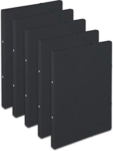 Ringhefter A4 Colorspan schwarz 2 Ring-Mechanik 5er-Pack