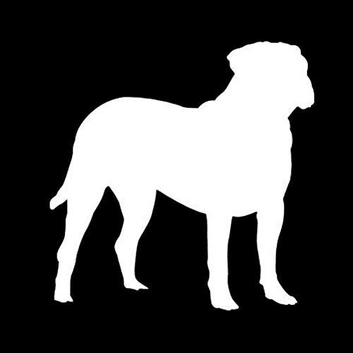SUIFENG Autoaufkleber 14.9 X 15.2 cm Bullmastiff Hund Autoabdeckung Kratzer Vinyl Aufkleber Auto Styling Tier Persönlichkeit Aufkleber