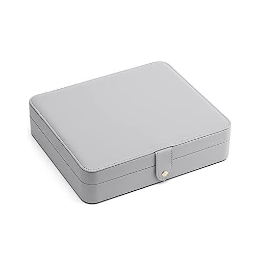 Caja de almacenamiento de joyas Suave PU Caja de joyería de cuero caja de viaje de viaje portátil caja de almacenamiento a prueba de polvo para pulseras, collares, anillos, pendientes Cajas de joyería