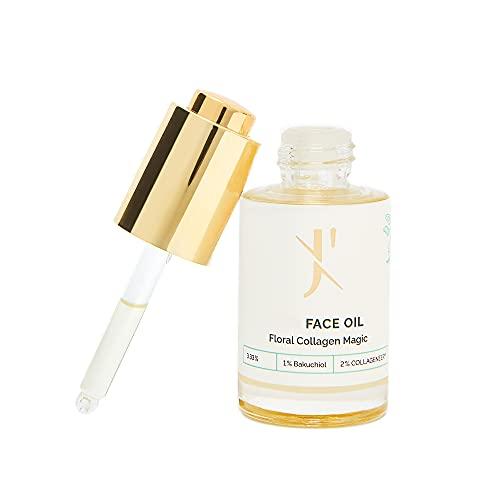 Anti Aging Gesichtsöl mit 1% Bakuchiol | Gegen Falten und Hyperpigmentierung | Dermatest SEHR GUT | Für empfindliche, unreine, zu Akne neigender, trockene Haut | von J'TANICALS 30ml