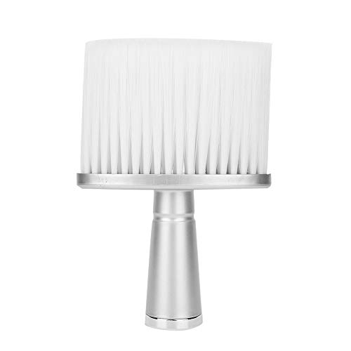 Barber Brush, Portable Neck Face Hair Remover Brush Hair Dust Cleaning Sweeping Brush Hair Sweep Brush for Home Use and Professional Hair Salon(blanc)