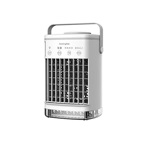 Mini acondicionador de aire portátil USB Desktop Air Cooler Humidificador Purifier Ventilador (sin adaptador) Accesorios electrónicos