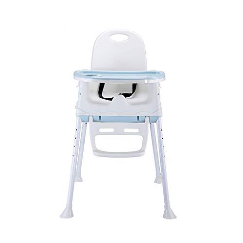 GZQDX Multifonctionnel Table Pliante à Manger for Enfants et chaises Soins Siège Portable Artefact bébé en Plein air Restaurant Maison Chaise bébé Manger (Color : Blue)