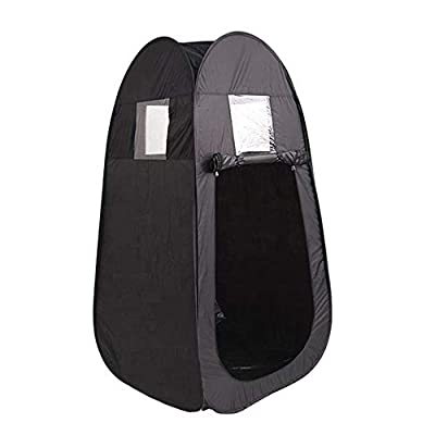Portable Home Sauna Tent, Pop Up Privacy Dressing Changing Room for Camping Biking Toilet Shower Beach Outdoor Without Steamer- Black
