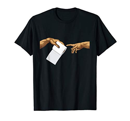 Klopapier Michelangelo - Die Erschaffung Adams T-Shirt
