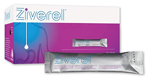 Ziverel: Triple Action - Relieves, Repairs and Protects. Acid Reflux & Heartburn Control, 20 Sachets (10ml) Red Grape Flavour