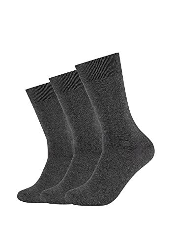 Camano Socken Damen & Herren (3x Paar) in Dunkelgrau mit Baumwolle Größe 43-46