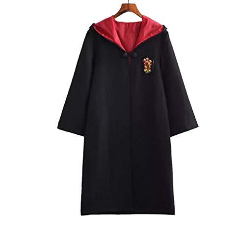 DS Film Adult Potter Cosplay Kostüm Robe Umhang mit Krawatte Schal Ravenclaw Gryffindor Hochpaqis Potter Kostüm Party
