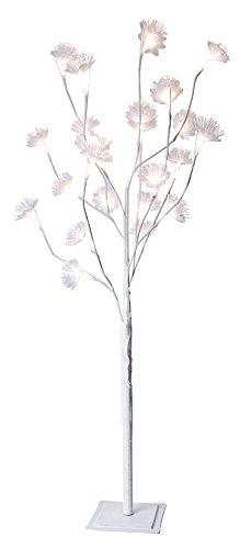 Star 860-61 Arbre décoratif à DEL Fibre Flower Tree, 0.72 W, Blanc, 100 x 20 x 14