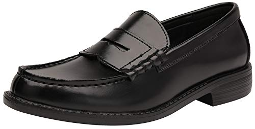 GNEHSUOY Italienische Herren Mokassin aus weichem Leder Schuhe Formelle Kleidung Schuhe Klassische Business-Schuhe Penny Loafers Schwarz Rot Khaki Größe 39.3-44 EU, A-schwarz, 44 EU