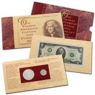 1994 thomas jefferson coinage and currency set