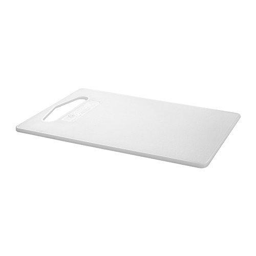 IKEA HOPPLÖS Schneidebrett in weiß; (24x15cm)