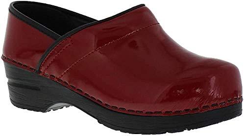 Sanita Professional Patent Clog Red Size EU 38 - US L 7-7.5