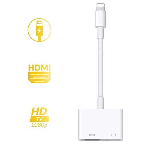 iPhone HDMI 変換アダプタ,ライトニング 変換アダプター digital avアダプタ 設定不要 操作簡単 高解像度 接続ケーブル Lightning HDMI ケーブル スマホ ゲーム TV視聴 iPhone11/11 Pro/11 Pro M