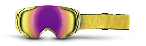 K2 Skis Skibrillen Photoantic DLX Smoke-Standard-Tripic Mirror, Yellow, One size