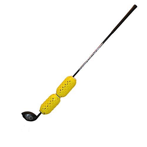 AERO-SWING - Yellow - Revolutionary Golf Swing Speed Trainer - HIT Golf Balls While Training!!!