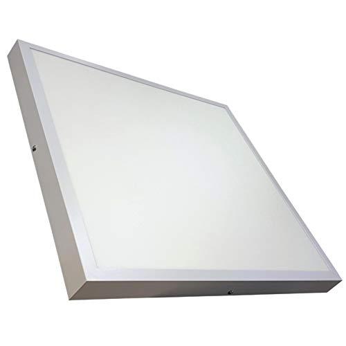 Panel LED Cuadrado de Superficie 60x60cm 48w. Color Blanco Neutro (4500K). 4400 Lumenes. Luminaria lampara de techo. A++