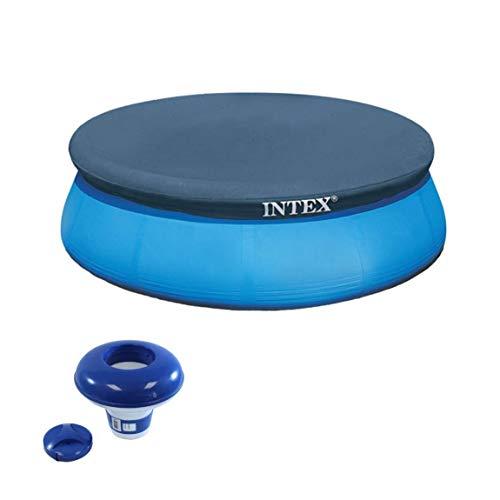 Intex 8' fácil de instalar sobre el suelo de la piscina de la cubierta redonda de vinilo lona hidroherramientas 8720 7' piscina Spa flotante cloro dispensador 1 o 3' tabletas