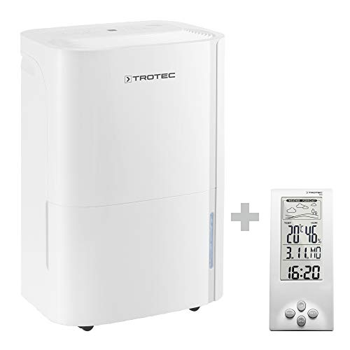 TROTEC Deshumidificador eléctrico TTK 66 E / 24L / Pantalla LED/Desagüe 3L / Portátil/Para Habitaciones de 50m² / Filtro/Silencioso / 440 W/Auto-Apagado/Temporizador/Higrostato