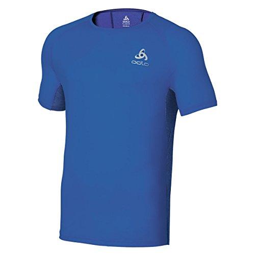 Odlo T-Shirt à Manches Courtes pour Homme Crono L Turkish Sea