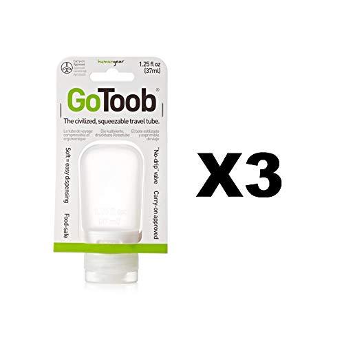Humangear GoToob Silikon Squeeze Flasche klar 1.25oz Lebensmittelecht BPA-frei (3er Pack)
