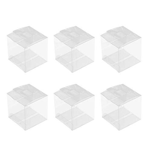 Lounayy 10 Stück Pet Clear Box Clear Basic Mode Geschenkboxen Transparente Boxen Clear Cube Geschenkboxen Für Hochzeit Party Und Baby Shower Favors 8 X 8 X 8 cm Sale Home Täglich Gebrauch Produkt