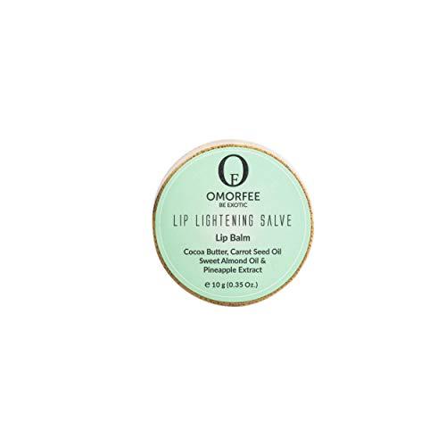 Omorfee Lip Lightening Balm for dark lips, Lip repair, 100% Organic, Lip Balm for Dry/chapped lips, 10g