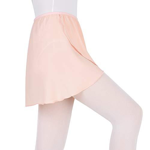Bezioner Girls Ballet/Dance Wrap Skirt Chiffon Ballet Skirt Women Pull on Elastic Waist Pink S