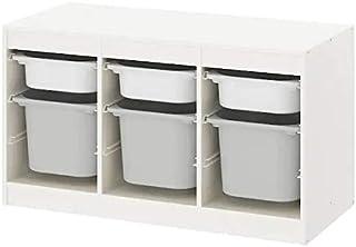 IKEA/イケア TROFAST:収納コンビネーション ボックス付き99x56 cm ホワイト/グレー(193.287.95)