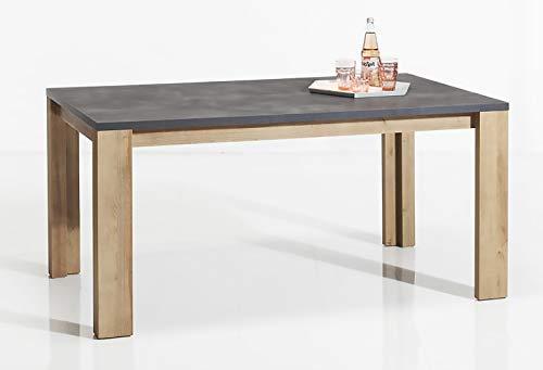 Movian Dining Table, Wood, Dark Grey/Light Brown, 0