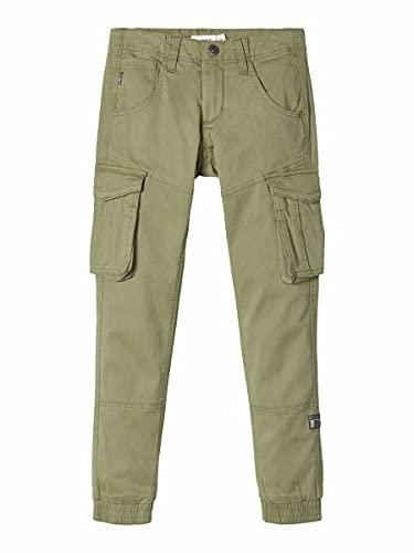 NAME IT Jungen Nitbamgo Reg/R TWI Ca Pant M NMT Noos Hose, Deep Lichen Green, (Herstellergröße:140)