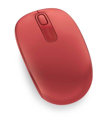 Microsoft 1850 Mobile Mouse Wireless, Accessori PC Ambidestro, Windows/Android, Rosso