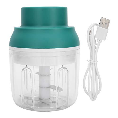 Lantro JS Mini picadora de Alimentos, procesadora de Alimentos, licuadora, Mezclador, diseño de Carga USB para Alimentos para bebés, Frutas, Verduras, Cebolla, ajo(250ml)