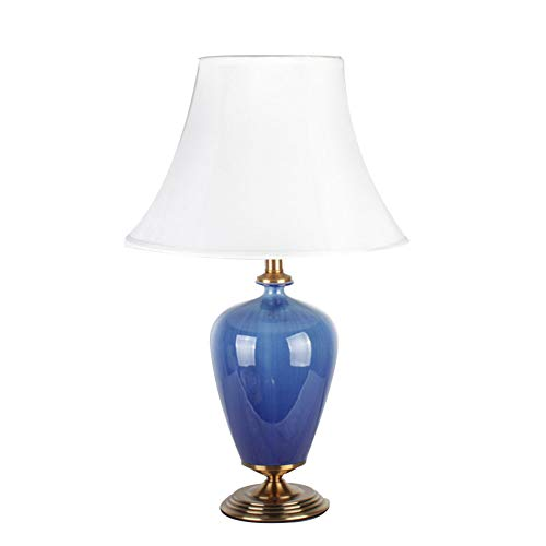 Lampe De Table en Céramique Chaude, Créatif Bleu Glace Fissure Grande Lampe De Table en Céramique Salon étude De La Chambre