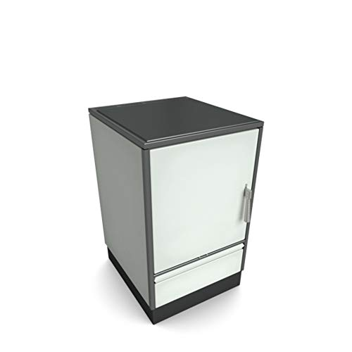 Holzherd Glutos HH 03 G ohne Sichtfenster und mit Glaskeramikkochfeld 7kW (Edelstahl)