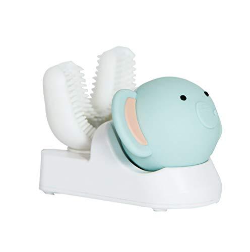 10 Sekunden Intelligente Automatische Elektrische Wireless Zahnbürste, USB-Ladegerät Ultra Sonic 360 Grad U Form Zähne Köpfe Timer, Akku-Zahn Oral Reiniger,Elephant