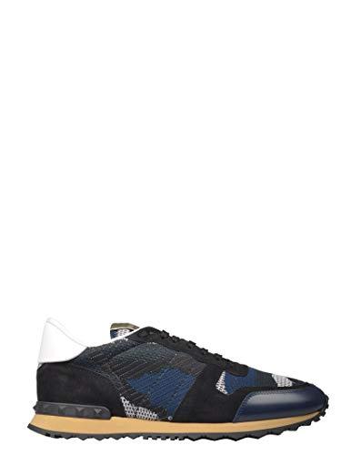 Luxury Fashion | Valentino Garavani Heren TY0S0723QRK31J Donkerblauw Leer Sneakers | Lente-zomer 20