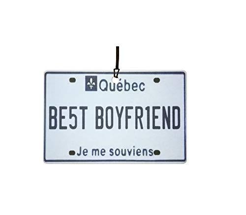 Ali Air Freshener Quebec - Best Boyfriend Nummernschild Auto Lufterfrischer