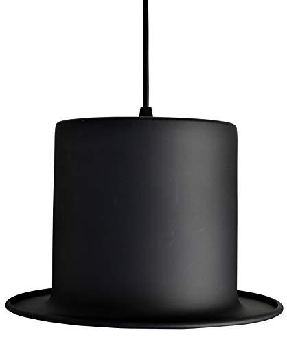 United Entertainment–Cilindro lámpara/lámpara de techo/Cilindro sombrero sombrero de techo en Cilindro de diseño–Negro/Oro Pantalla