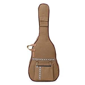 The House of Tara Khaki Canvas Acoustic Guitar Bag 6