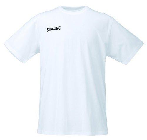 Spalding Promo tee Camiseta Baloncesto, Hombre, Blanco, XL