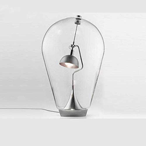 Lámpara de Mesa de Noche Lámpara de Mesa de Vidrio Creativa Sala de Estar Comedor Lámpara de Estudio Dormitorio Escritorio Lámparas de atenuación Lámpara de Escritorio (Tamaño: L)