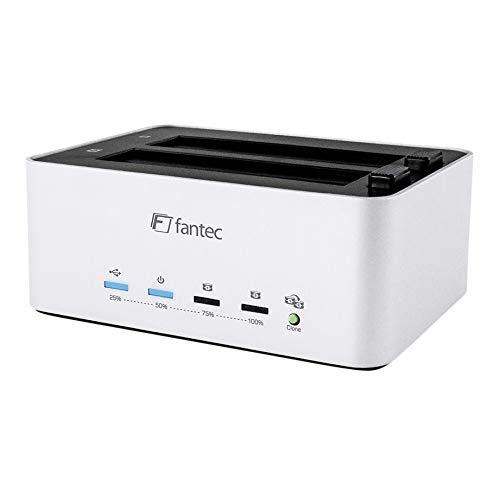 FANTEC AluDOCK 2X 2-fach Docking- und HDD Klonstation, 2,5