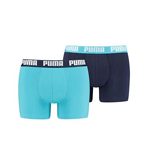 PUMA Herren Puma Basic 2p Boxer Shorts, (Aqua/ Blue 796), XXL EU