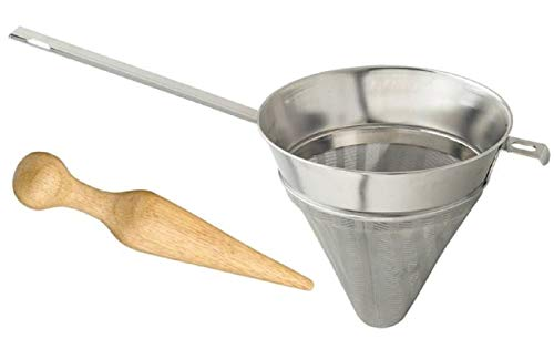 HIC Chinois Fine-Mesh Sieve and Wooden Chinois Pestle Set