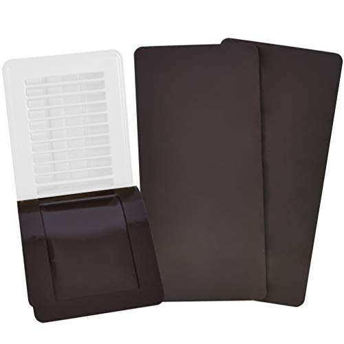 SEAL360 Magnetic Vent Covers (3-Pack), Pockets for Complete Seal, 5.5 X 12 (Brown) for Floor, Wall, or Ceiling Vents and Air Registers, for RV, Home HVAC and AC Vents, Vent Not Included