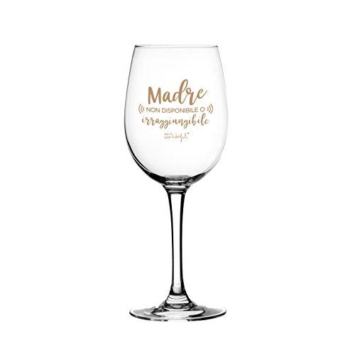 Mr. Wonderful Copa de vino o madre no disponible o iralcan, multicolor, 8 x 8 x 21 cm